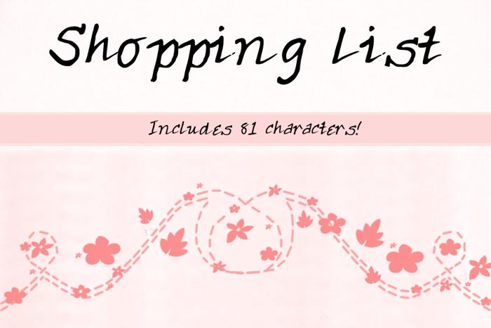 ShoppingList Font poster
