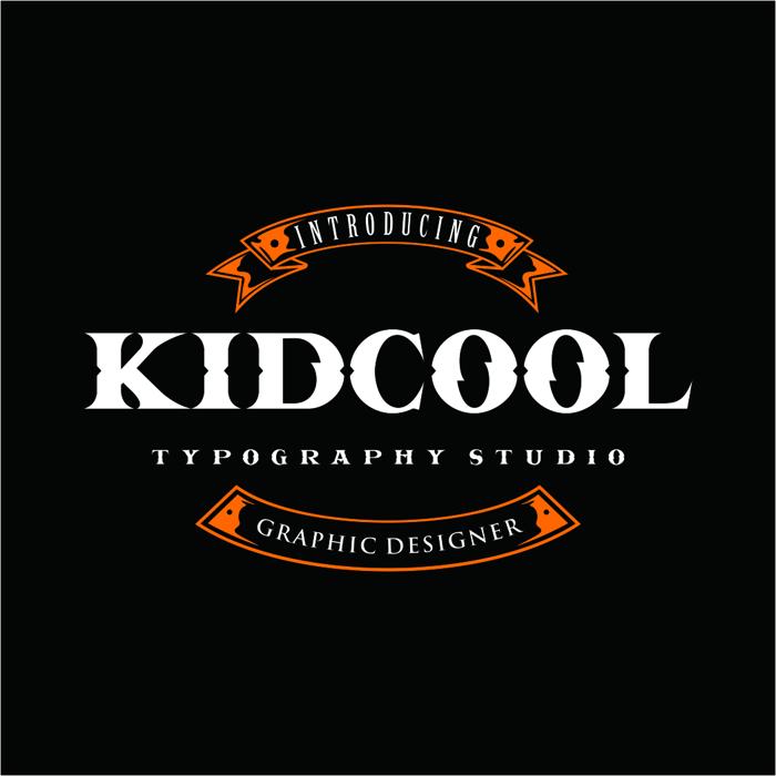 KIDCOOL DRAGON Font poster