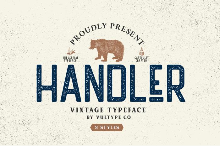 Handler Font poster