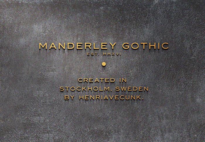 Manderley Font poster