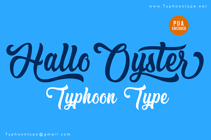 Hallo Oyster (Personal Use) Font poster