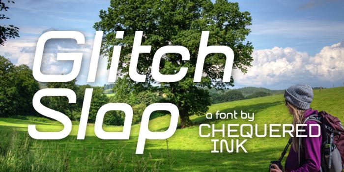 Glitch Slap Font poster