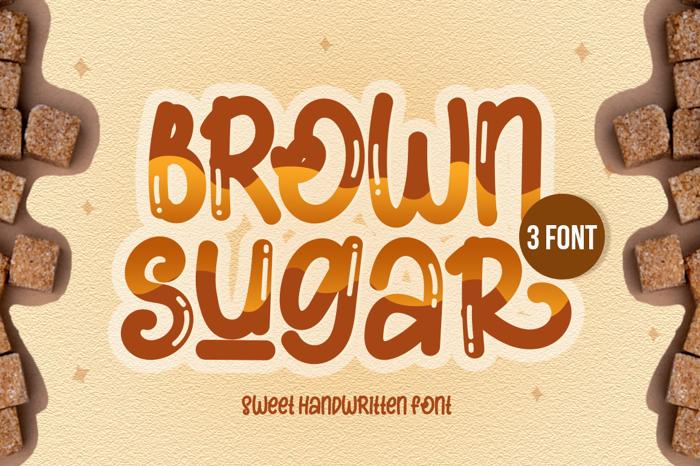 Brown Sugar Font poster