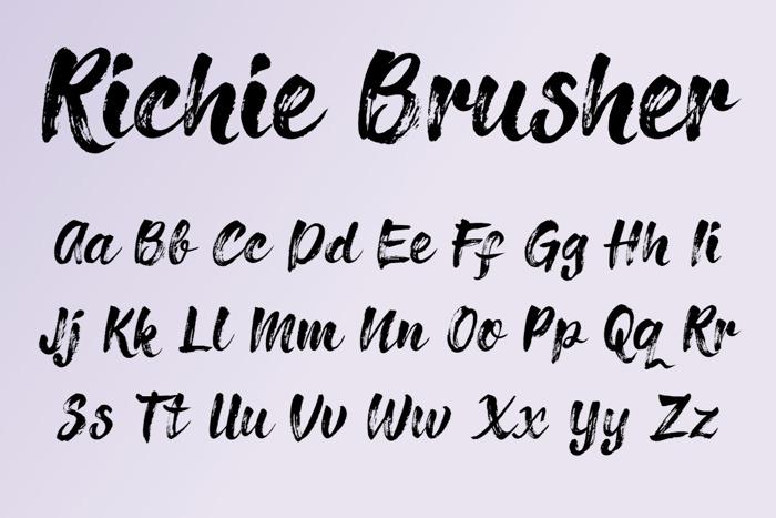 Richie Brusher Font poster