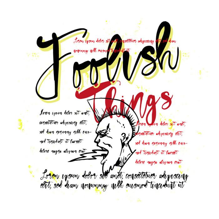 Vtks Foolish Things Font poster