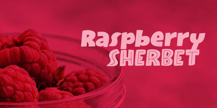 Raspberry Sherbet Inline Font poster