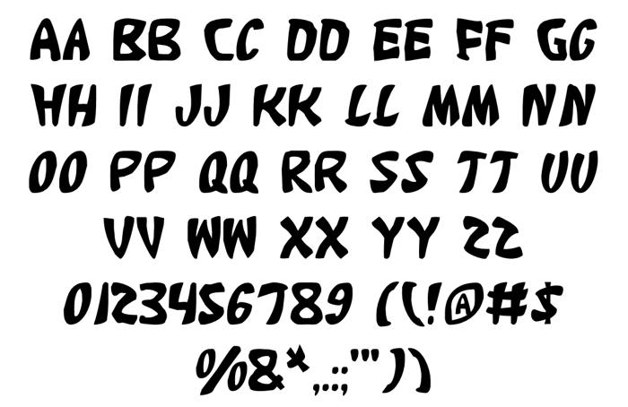Katana Font poster