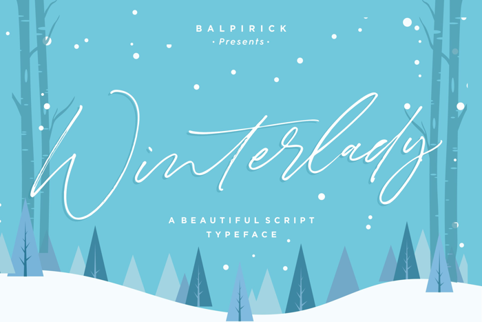 Winterlady Font poster