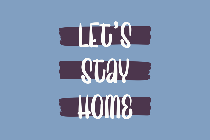 Sweet Home Font poster