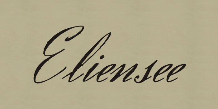Eliensee Font poster