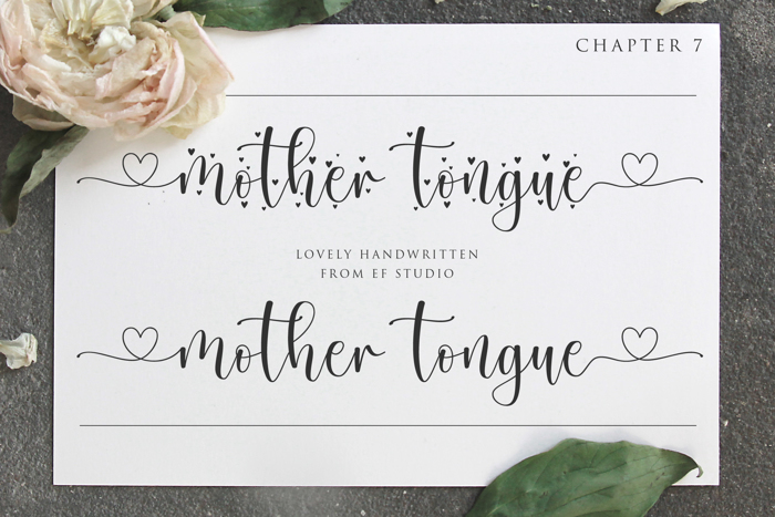 Mother Tongue Font poster