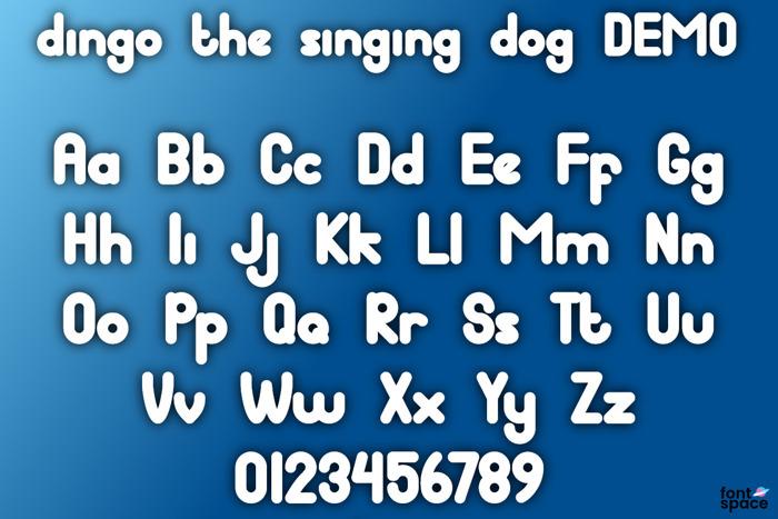 dingo the singing dog Font poster
