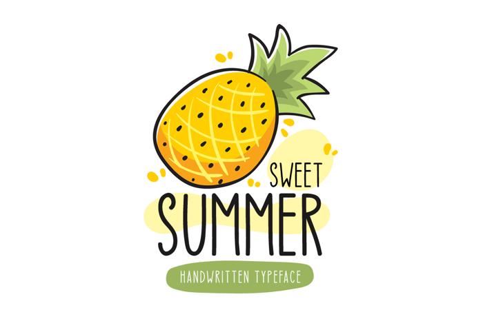 Sweet Summer Font poster
