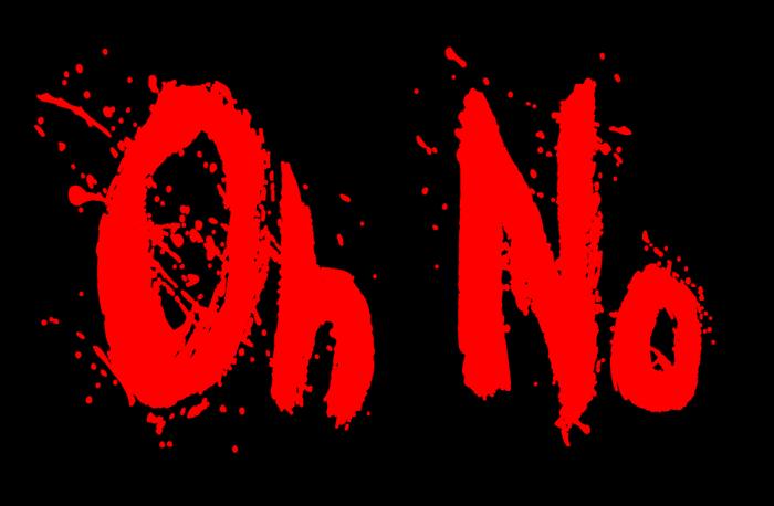 Oh No Font poster