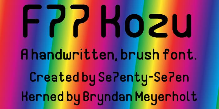F77 Kozu Demo Font poster