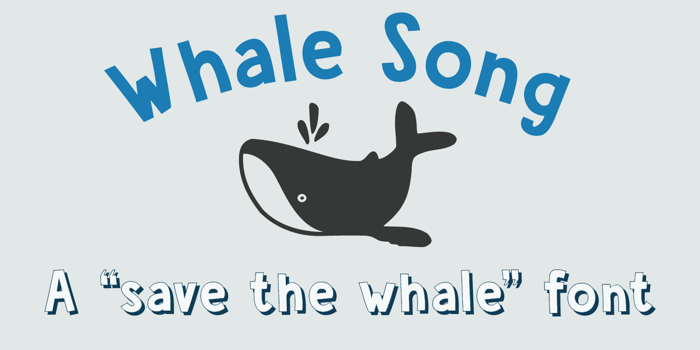 DK Whale Song Font poster