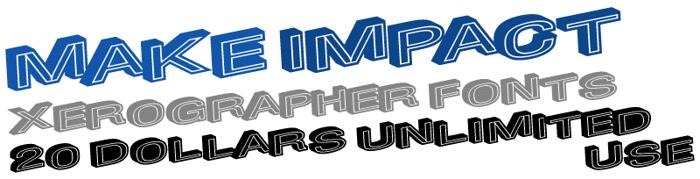 MakeImpact Font poster