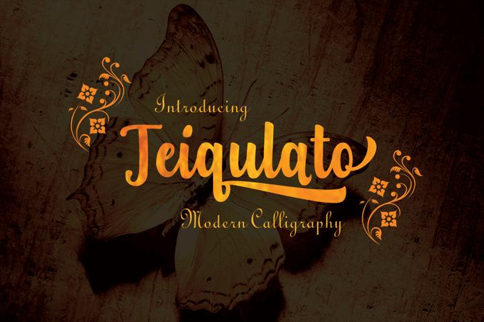 Teiqulato Free Font poster