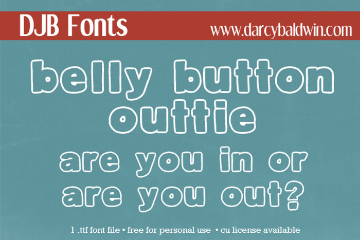 DJB Belly Button-Outtie Font poster