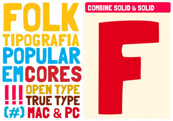 Folk Font poster
