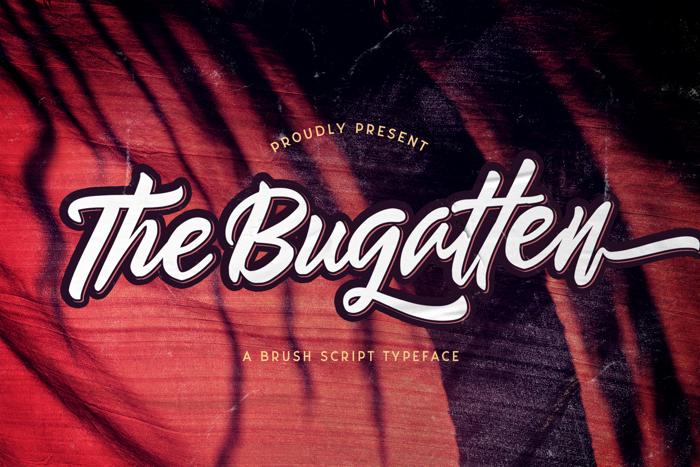 The Bugatten Font poster