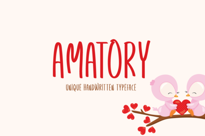 Amatory Font poster