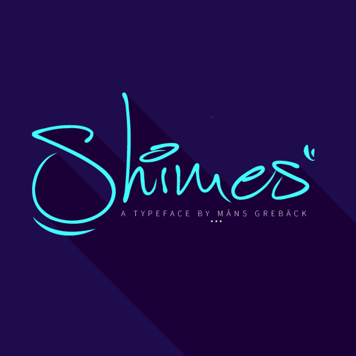 Shimes Font poster