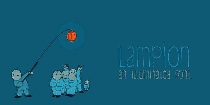DK Lampion Font poster