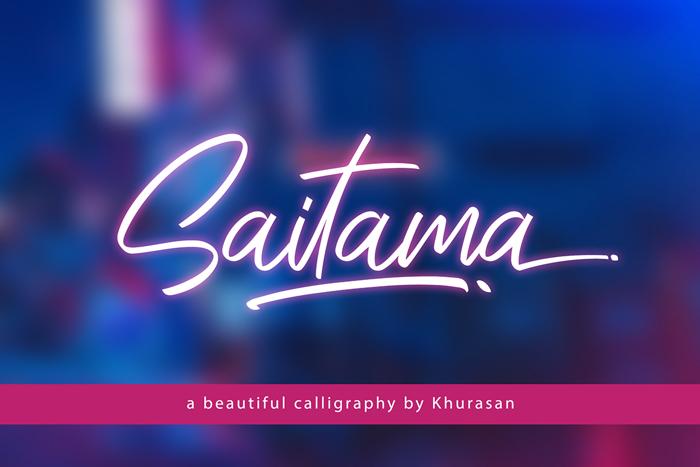 Saitama Font poster