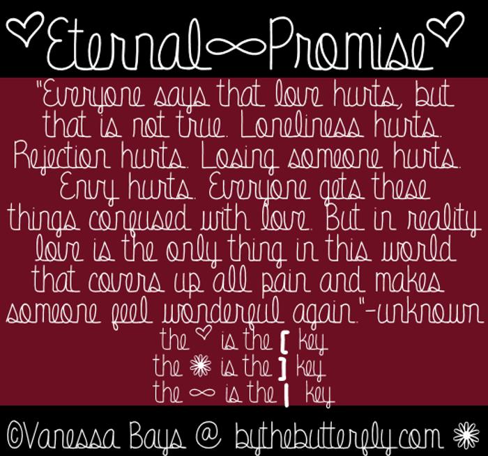 Eternal Promise Font poster