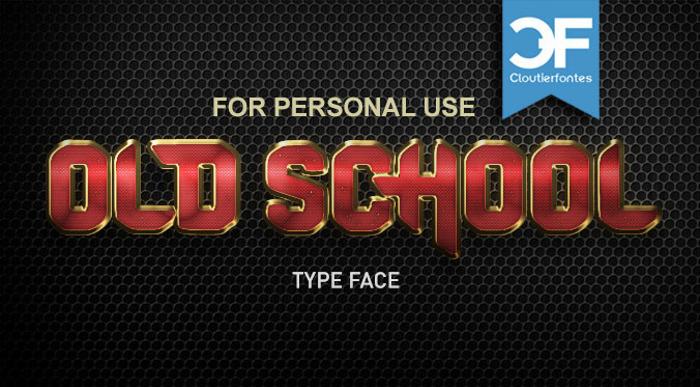 CF Old School Font poster