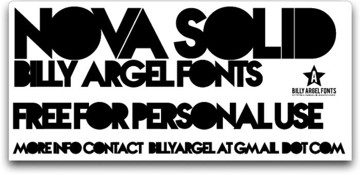 Nova SOLID Font poster