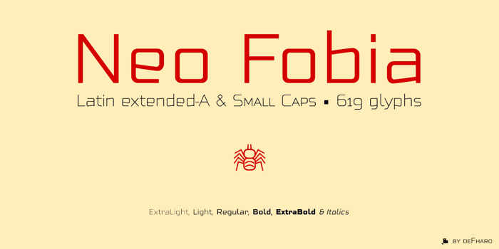 Neo Fobia Font poster