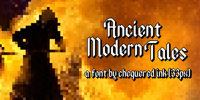 Ancient Modern Tales Font poster