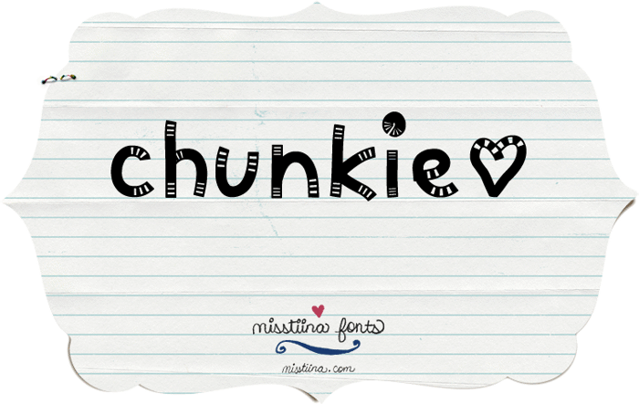MTF Chunkie Font poster