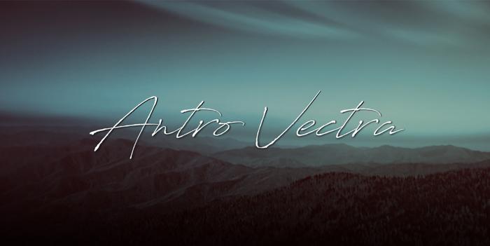Antro Vectra Font poster