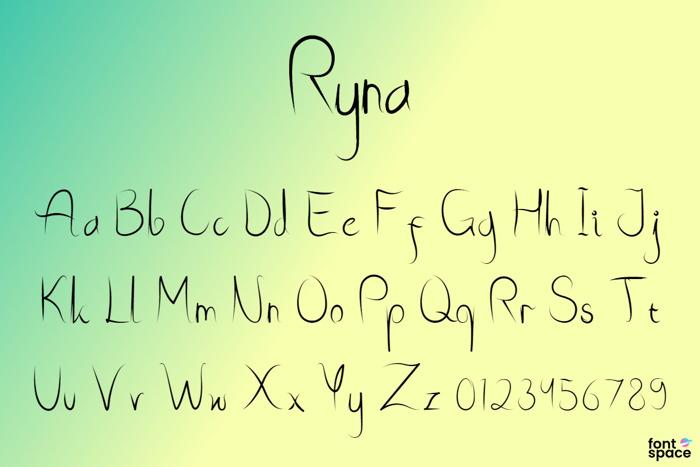 Ryna Font poster
