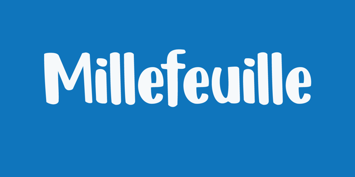 DK Millefeuille Font poster