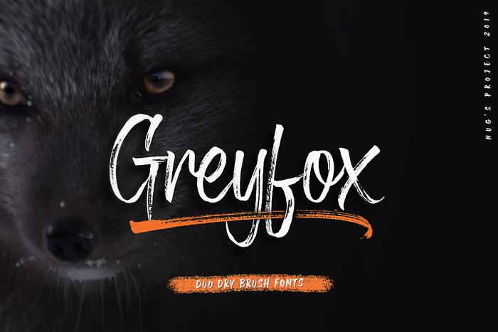 Greyfox Font poster