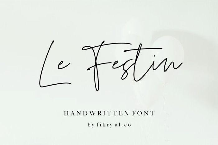 Le Festin Font poster