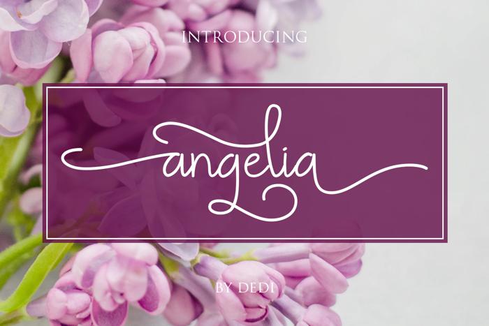 Angelia Font poster