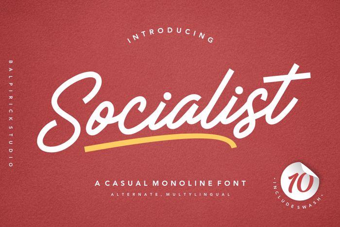 Socialist Font poster