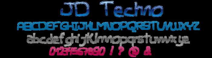 JDTechno Font poster