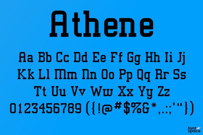 Athene Font poster