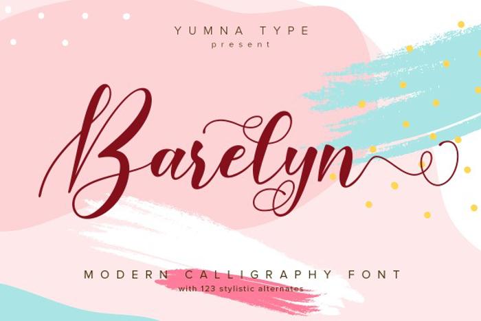 Barelyn Font poster