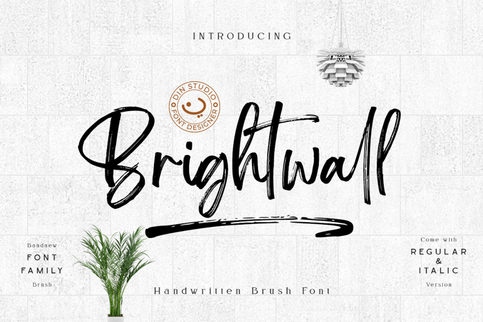 Brightwall Font poster
