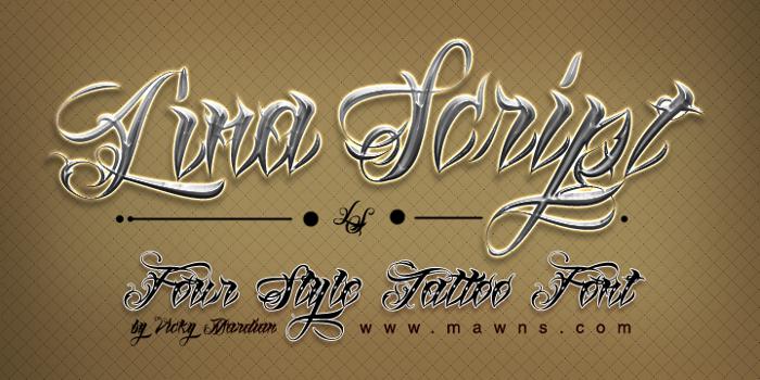 Lina Script Demo Font poster