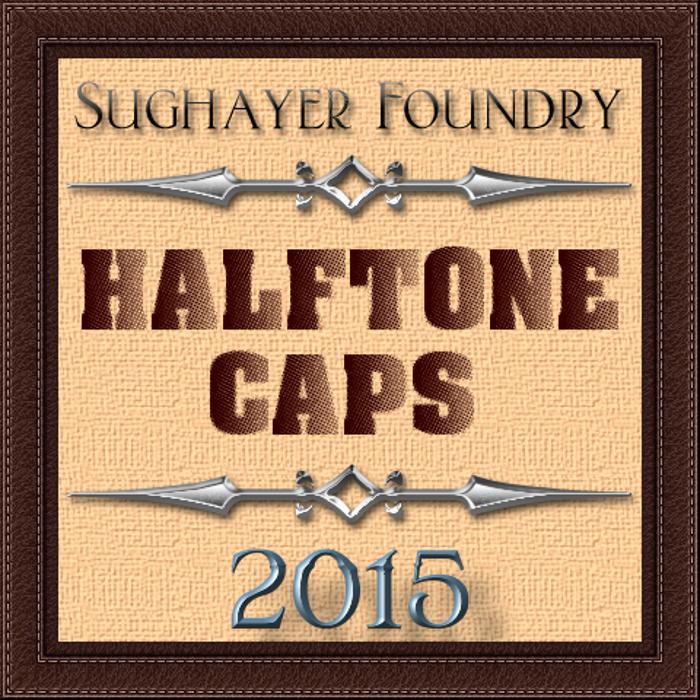 Halftone CAPS Font poster