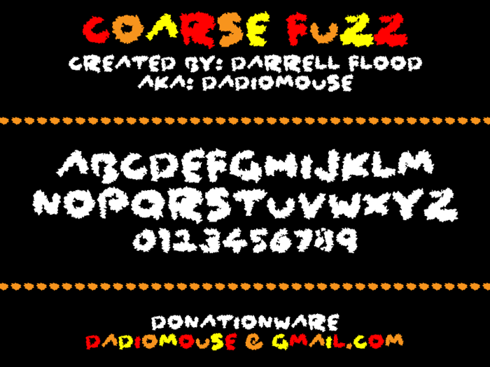 Coarse Fuzz Font poster