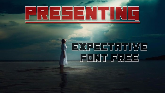 Expectative Font poster